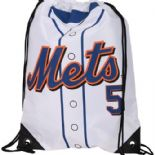 New York Mets, David Wright #5, Player Jersey Drawstring Backpack